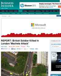 REPORT British Soldier Killed In London Machete Attack: Business Insider